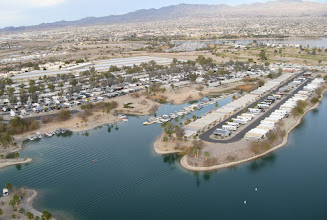 Photo: RV parks and boat marinas on the island