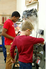 Photo: Young turners focused on their work!