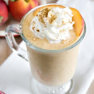 Vegan Peach Cobbler Milkshake.