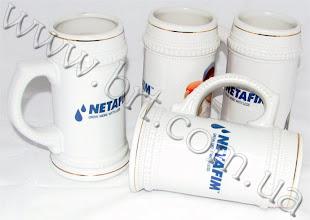 Photo: Пивні келихи з логотипом компанії Нетафім (сільське господарство)