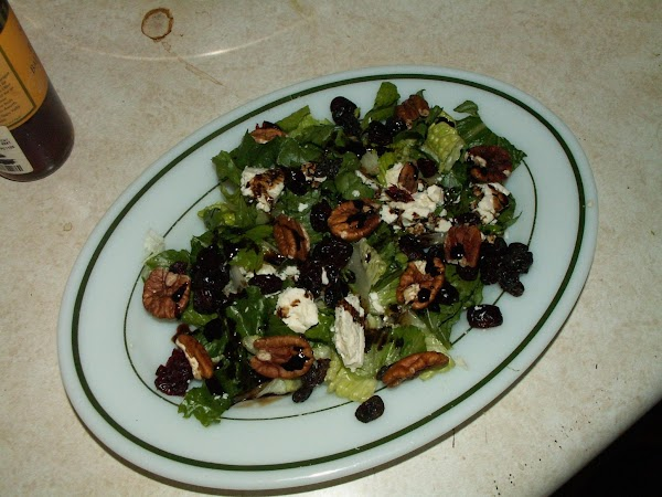 Drizzle the salad with a liberal sprinkling of Balsamic Vinegar and serve with crackers...