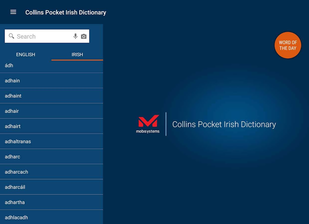 Collins Pocket Irish Dictionar- screenshot