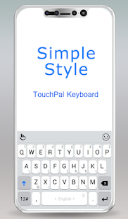 TouchPal Simple Style Theme For OS 11- screenshot thumbnail