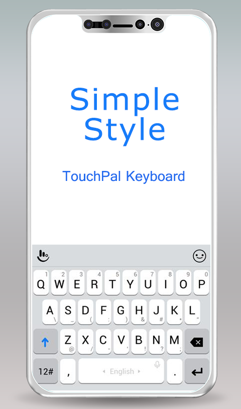 TouchPal Simple Style Theme For OS 11- screenshot