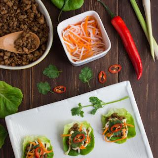 Lemongrass Pork Bahn Mi Lettuce Wraps Recipe