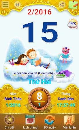 Lich Van Nien - Lịch VN 2016 7.5 screenshot 334431