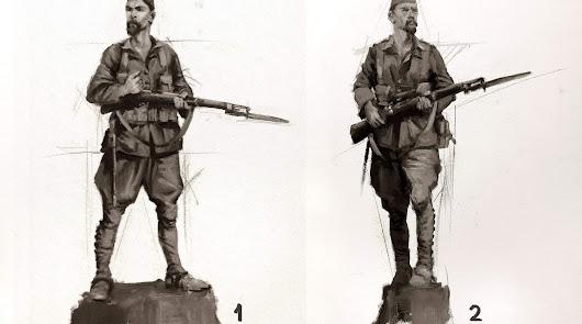 Bocetos de Ferrer-Dalmau difundidos por el Museo del Ejército de Tierra