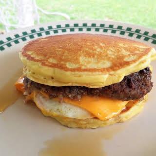 Leftover Pancake Breakfast Sandwich.