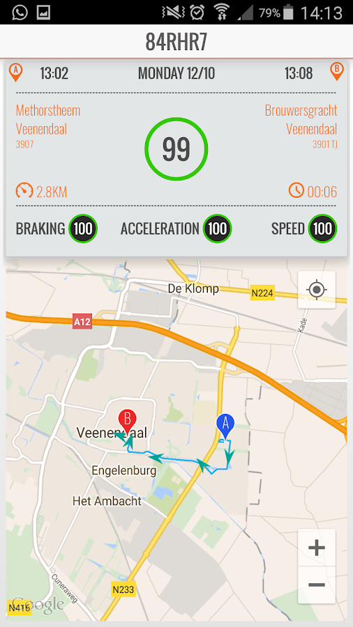 Safe Driving App- screenshot