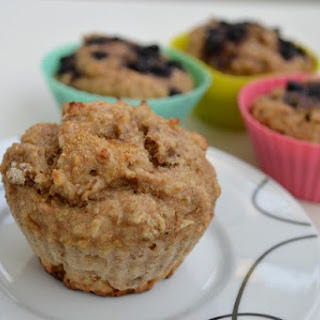 Whole Wheat Muffins With Banana, Chocolate And Cranberries