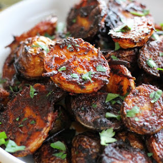Spicy Harissa Roasted Potatoes.