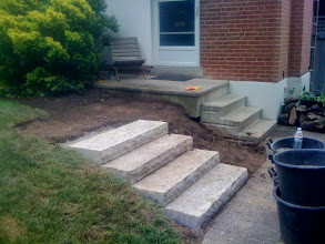 Photo: See the old steps, crushing visitors against the house? Not