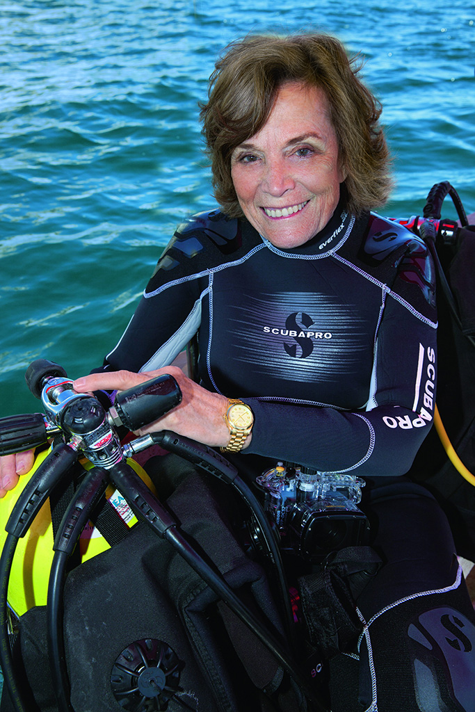 US marine biologist and Rolex ambassador Sylvia Earle