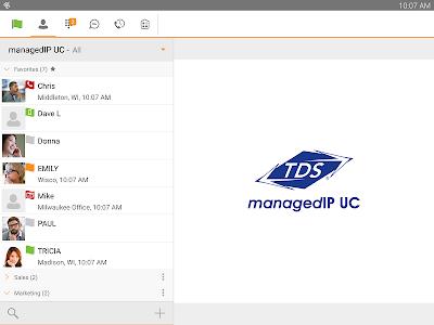 TDS managedIP Hosted Tablet UC screenshot 0