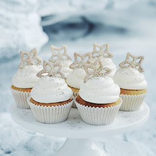 Snowflake Cupcakes.