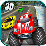 Crazy Car vs Monster Racing 3D Icon
