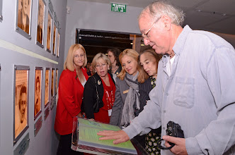 Photo: Regional Presidents try out equipment in Heritage Center