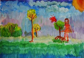 Photo: Шрайфель Алиса. 6 лет. Студ. Марины Штеренберг. Израиль. г. Реховот