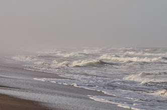 Photo: Waves off beach; Canaveral National Seashore