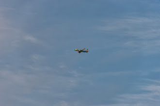 Photo: A passing plane (taken with Nikon D800; 200 mm, 1/160 s, f/6.3)