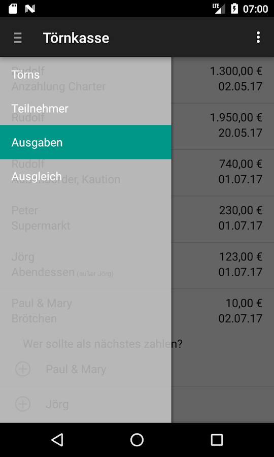 Törnkasse- screenshot