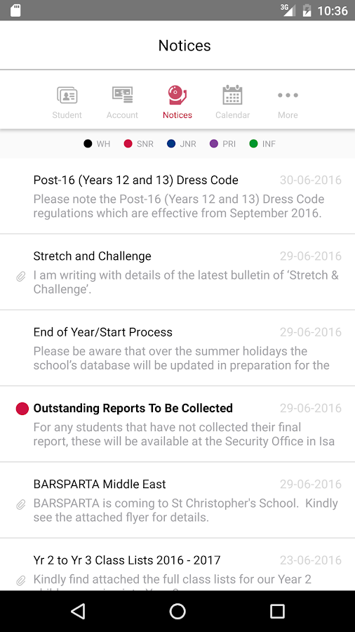 St Chris Parent App - Bahrain- screenshot