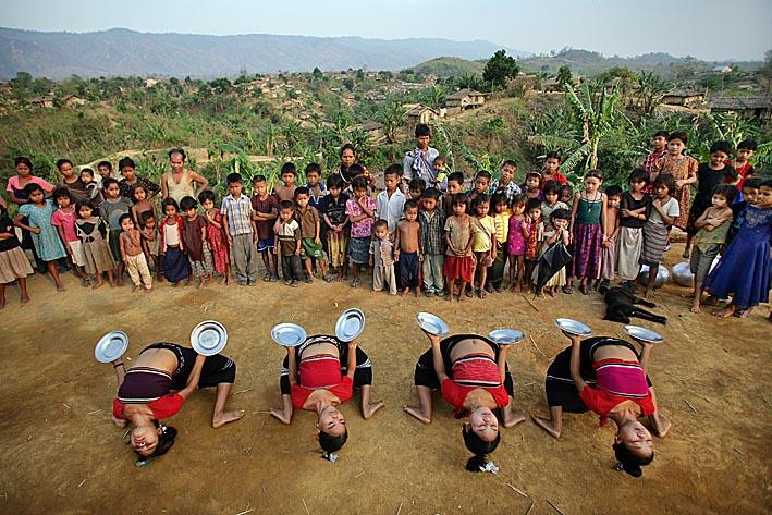 Photo: Bru tribal dance. Naisingpara refugee camp, Tripura, North East States, India Photo copyright: Timothy Allen Twitter - http://twitter.com/MrTimothyAllen Instagram - http://instagram.com/timothy_allen