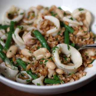 Farro Salad with Squid, White Beans, and Green Beans Recipe