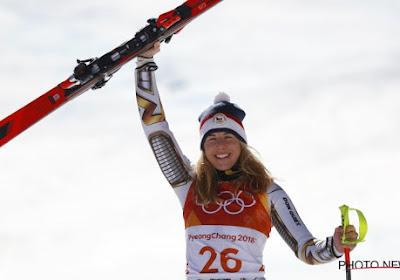? Ongezien: Snowboardster wint Super-G bij het skiën op geleende ski's