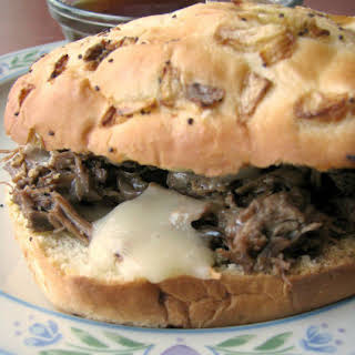 Slow Cooker French Dip Au Jus.