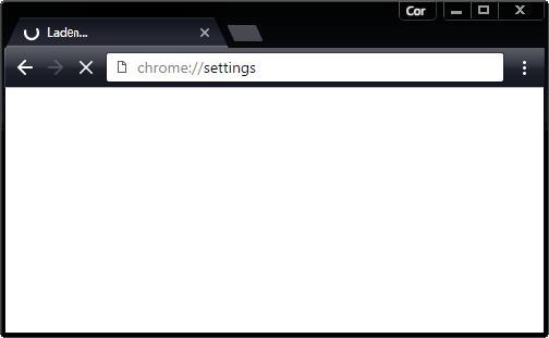 Google Chrome laadt instellingen niet. Scherm blijft leeg/blanko