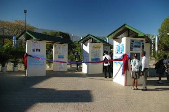 Photo: Entrée de l'Exposition au Champs de Mars, Port-au-Prince