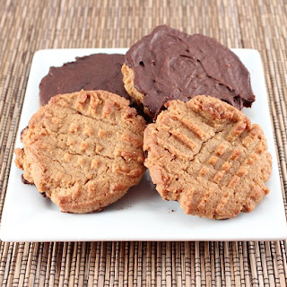 Chocolate Dipped Almond Butter Cookies (Low Carb and Gluten Free).
