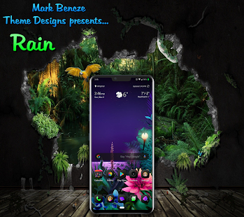 Rain Theme for LG G8, V40, V50 UX8 Android 9 for PC-Windows 7,8,10 and Mac apk screenshot 1