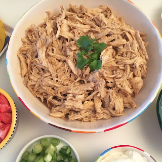 Electric Pressure Cooker – Fajita Seasoned Shredded Chicken.