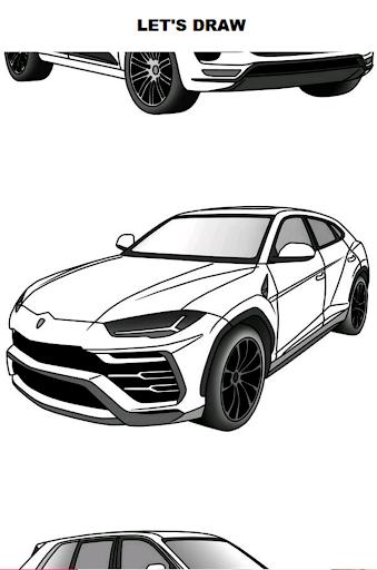 draw cars: suv screenshot 1