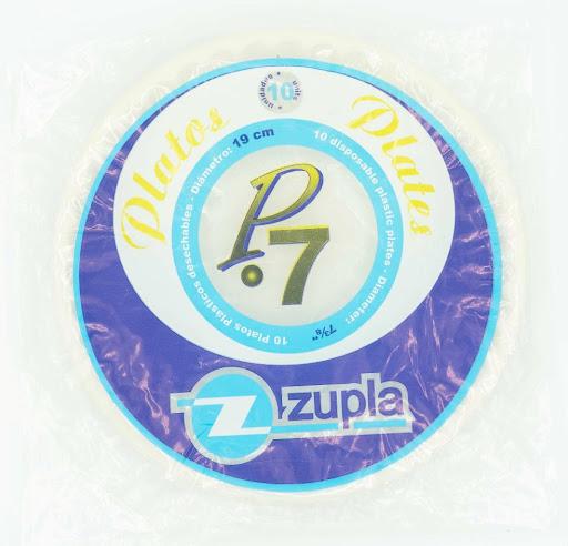 platos plasticos zupla p7 10und