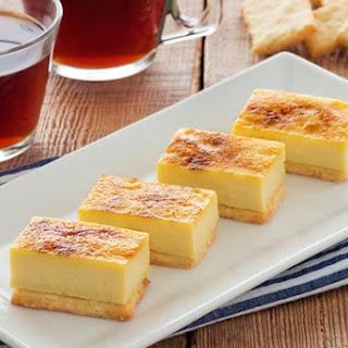 Crème Brulee Bars on Shortbread
