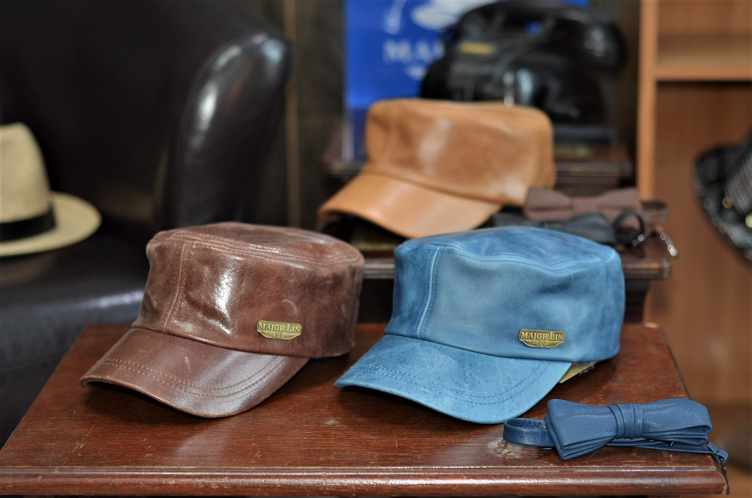 UTILITY LEATHER MILITARY CAP