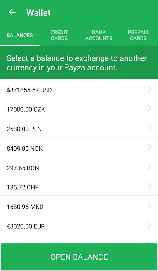 Payza- screenshot