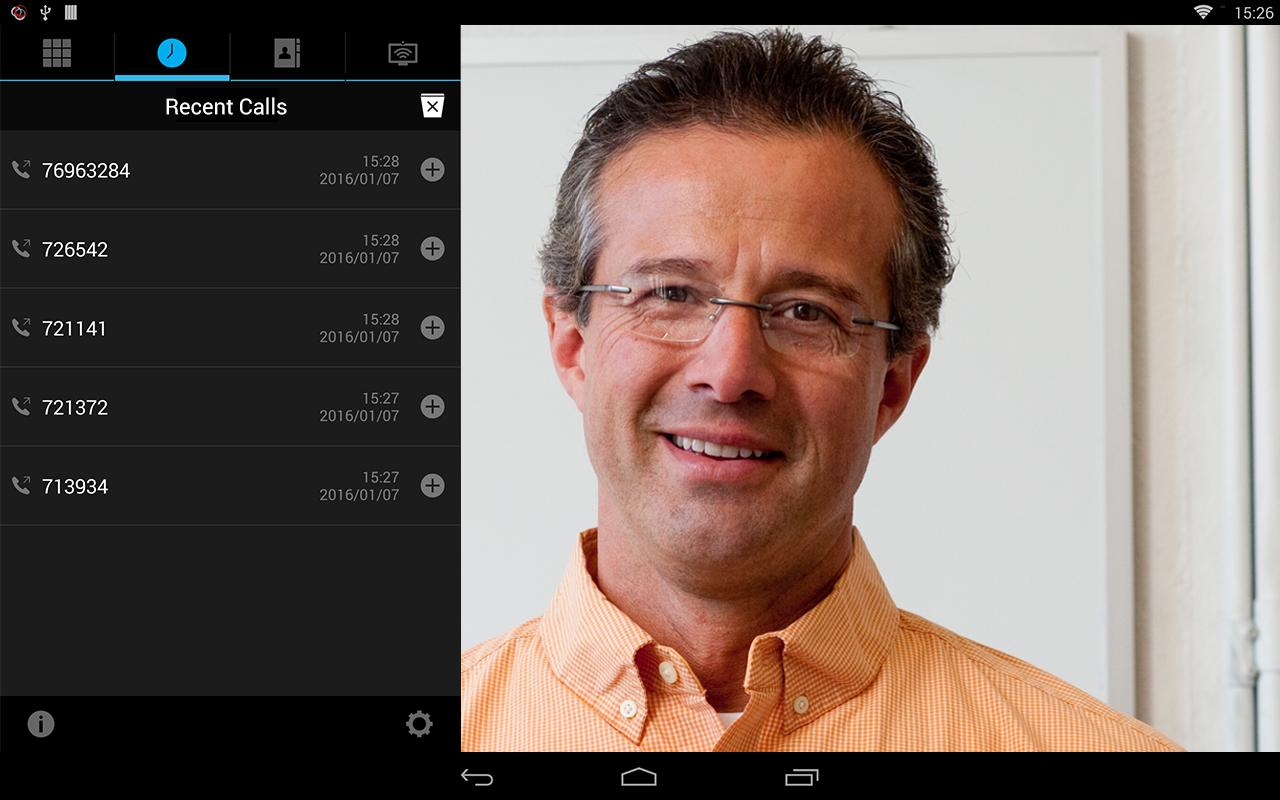 RealPresence Mobile - Tablet- screenshot