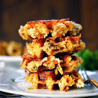 Crispy Mac and Cheese Waffles.