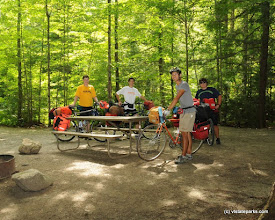 Photo: Bike group at Gifford Woods State Park