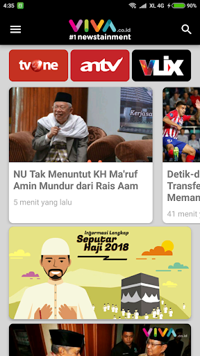 VIVA - Berita Terbaru - Streaming tvOne & ANTV 3.5.3 Screenshots 1