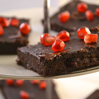 Healthy Whole Wheat Avocado & Pomegranate Brownies