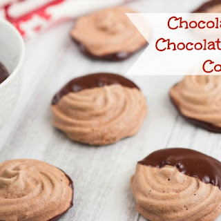 Chocolate Dipped Chocolate Meringue Cookies