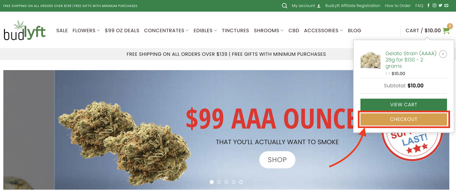 Buy Weed Online - How to Get to Checkout