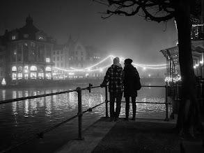 Photo: silent misty night...  #street #streetphotography #shootthestreet #blackandwhite #blackandwhitephotography #bw #monochrome