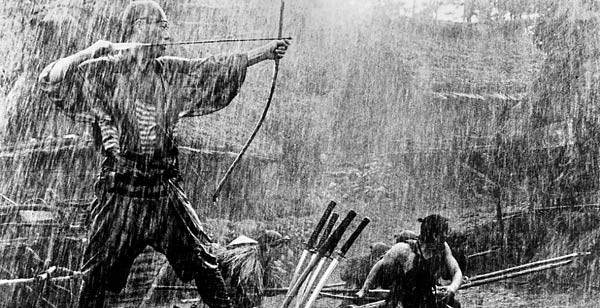 Concentration sous la pluie (7 Samourais, Kurosawa)