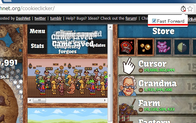 Fast Forward Cookie Clicker